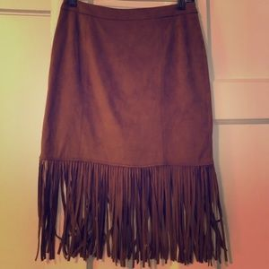 Philosophy Republic Clothing Fringe Skirt